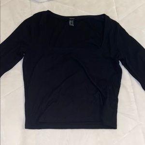 Black long sleeve , square neck